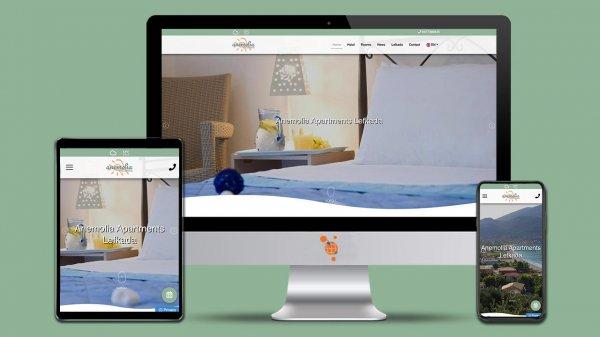 Anemolia apartments - Κατασκευή Ιστοσελίδας για ξενοδοχείο στη Λευκάδα