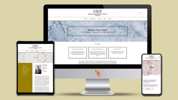 GKP Law Firm - Kατασκευή ιστοσελίδας του δικηγορικού γραφείου GKP Law