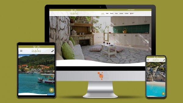 Ισαλος studio - Κατασκευή Ιστοσελίδας για ξενοδοχείο στη Λευκάδα